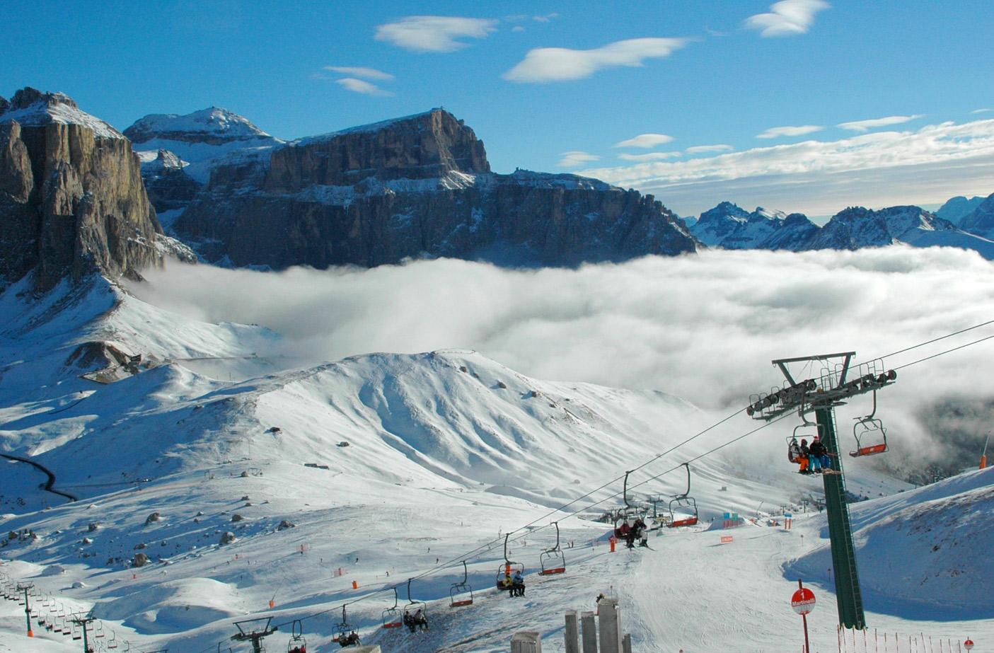 Sjezdovky na Val di Fassa